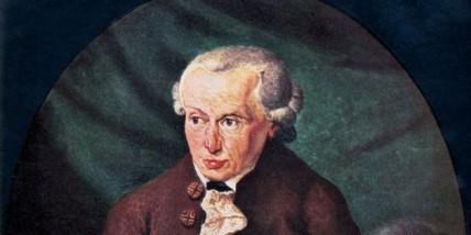 Immanuel Kant - portrait. Painting by Döbler, 1791. German Prussian philosopher,